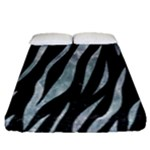 SKIN3 BLACK MARBLE & ICE CRYSTALS (R) Fitted Sheet (Queen Size)