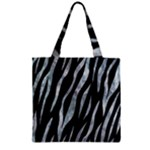 SKIN3 BLACK MARBLE & ICE CRYSTALS (R) Zipper Grocery Tote Bag