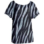 SKIN3 BLACK MARBLE & ICE CRYSTALS (R) Women s Oversized Tee