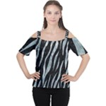 SKIN3 BLACK MARBLE & ICE CRYSTALS (R) Cutout Shoulder Tee