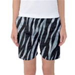 SKIN3 BLACK MARBLE & ICE CRYSTALS (R) Women s Basketball Shorts