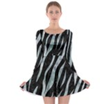 SKIN3 BLACK MARBLE & ICE CRYSTALS (R) Long Sleeve Skater Dress