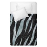 SKIN3 BLACK MARBLE & ICE CRYSTALS (R) Duvet Cover Double Side (Single Size)