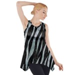 SKIN3 BLACK MARBLE & ICE CRYSTALS (R) Side Drop Tank Tunic