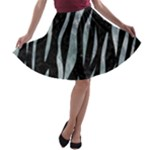 SKIN3 BLACK MARBLE & ICE CRYSTALS (R) A-line Skater Skirt