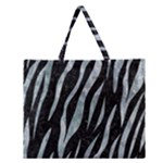 SKIN3 BLACK MARBLE & ICE CRYSTALS (R) Zipper Large Tote Bag