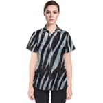 SKIN3 BLACK MARBLE & ICE CRYSTALS (R) Women s Short Sleeve Shirt