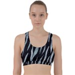 SKIN3 BLACK MARBLE & ICE CRYSTALS (R) Back Weave Sports Bra