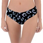 SKIN5 BLACK MARBLE & ICE CRYSTALS Reversible Classic Bikini Bottoms