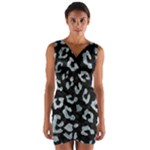 SKIN5 BLACK MARBLE & ICE CRYSTALS Wrap Front Bodycon Dress