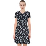 SKIN5 BLACK MARBLE & ICE CRYSTALS Adorable in Chiffon Dress