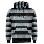 STRIPES2 BLACK MARBLE & ICE CRYSTALS Men s Pullover Hoodie