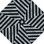 STRIPES3 BLACK MARBLE & ICE CRYSTALS Folding Umbrellas