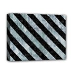 STRIPES3 BLACK MARBLE & ICE CRYSTALS Deluxe Canvas 14  x 11