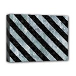 STRIPES3 BLACK MARBLE & ICE CRYSTALS Deluxe Canvas 16  x 12