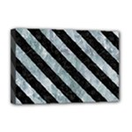 STRIPES3 BLACK MARBLE & ICE CRYSTALS Deluxe Canvas 18  x 12
