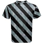 STRIPES3 BLACK MARBLE & ICE CRYSTALS Men s Cotton Tee