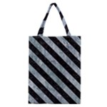 STRIPES3 BLACK MARBLE & ICE CRYSTALS Classic Tote Bag