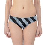 STRIPES3 BLACK MARBLE & ICE CRYSTALS Hipster Bikini Bottoms