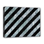 STRIPES3 BLACK MARBLE & ICE CRYSTALS (R) Canvas 14  x 11