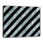 STRIPES3 BLACK MARBLE & ICE CRYSTALS (R) Canvas 20  x 16