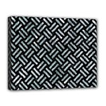 WOVEN2 BLACK MARBLE & ICE CRYSTALS (R) Canvas 14  x 11
