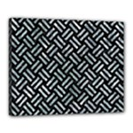 WOVEN2 BLACK MARBLE & ICE CRYSTALS (R) Canvas 20  x 16