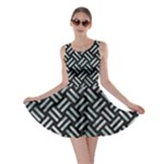 WOVEN2 BLACK MARBLE & ICE CRYSTALS (R) Skater Dress