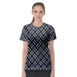 WOVEN2 BLACK MARBLE & ICE CRYSTALS (R) Women s Sport Mesh Tee