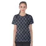 WOVEN2 BLACK MARBLE & ICE CRYSTALS (R) Women s Cotton Tee