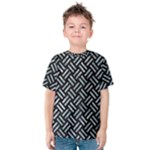 WOVEN2 BLACK MARBLE & ICE CRYSTALS (R) Kids  Cotton Tee
