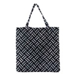 WOVEN2 BLACK MARBLE & ICE CRYSTALS (R) Grocery Tote Bag