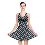 WOVEN2 BLACK MARBLE & ICE CRYSTALS (R) Reversible Skater Dress