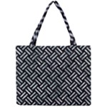WOVEN2 BLACK MARBLE & ICE CRYSTALS (R) Mini Tote Bag