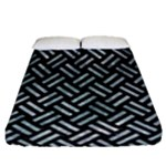WOVEN2 BLACK MARBLE & ICE CRYSTALS (R) Fitted Sheet (Queen Size)