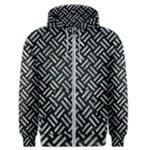 WOVEN2 BLACK MARBLE & ICE CRYSTALS (R) Men s Zipper Hoodie
