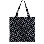 WOVEN2 BLACK MARBLE & ICE CRYSTALS (R) Zipper Grocery Tote Bag