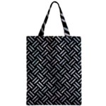 WOVEN2 BLACK MARBLE & ICE CRYSTALS (R) Zipper Classic Tote Bag