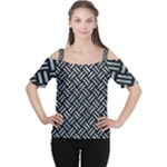 WOVEN2 BLACK MARBLE & ICE CRYSTALS (R) Cutout Shoulder Tee