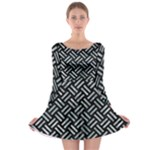 WOVEN2 BLACK MARBLE & ICE CRYSTALS (R) Long Sleeve Skater Dress