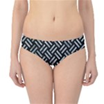 WOVEN2 BLACK MARBLE & ICE CRYSTALS (R) Hipster Bikini Bottoms
