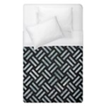 WOVEN2 BLACK MARBLE & ICE CRYSTALS (R) Duvet Cover (Single Size)