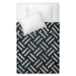 WOVEN2 BLACK MARBLE & ICE CRYSTALS (R) Duvet Cover Double Side (Single Size)