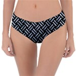 WOVEN2 BLACK MARBLE & ICE CRYSTALS (R) Reversible Classic Bikini Bottoms