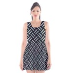 WOVEN2 BLACK MARBLE & ICE CRYSTALS (R) Scoop Neck Skater Dress