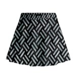 WOVEN2 BLACK MARBLE & ICE CRYSTALS (R) Mini Flare Skirt