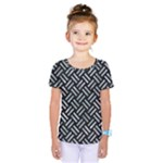 WOVEN2 BLACK MARBLE & ICE CRYSTALS (R) Kids  One Piece Tee