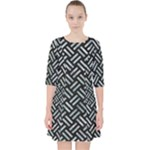 WOVEN2 BLACK MARBLE & ICE CRYSTALS (R) Pocket Dress