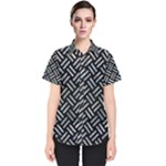 WOVEN2 BLACK MARBLE & ICE CRYSTALS (R) Women s Short Sleeve Shirt