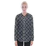 WOVEN2 BLACK MARBLE & ICE CRYSTALS (R) Womens Long Sleeve Shirt